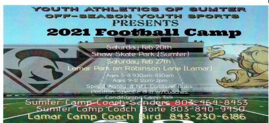 2021 free youth football camp