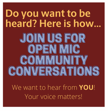 Open Mic Community Conversations