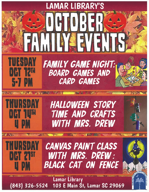 fall events at the library